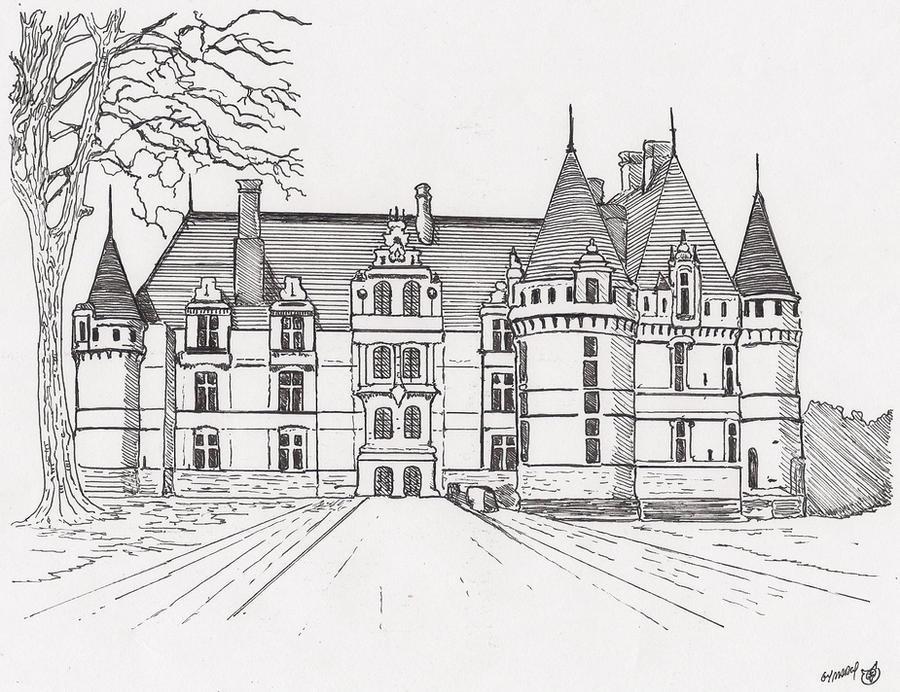 chateau d azay le rideau by megalobo on deviantart. Black Bedroom Furniture Sets. Home Design Ideas