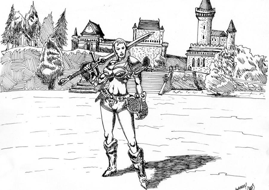 Warrior Princess by megalobo