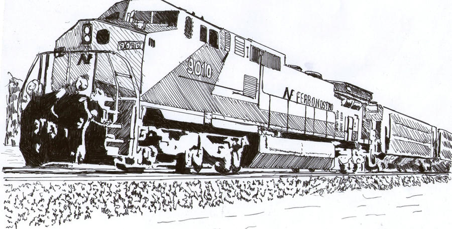 Train Coloring Pages Amtrak California