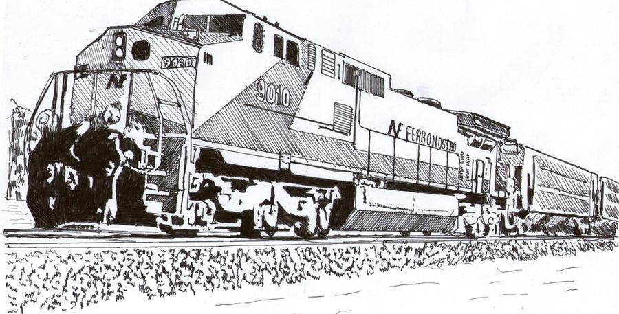 Diesel Locomotive by megalobo on DeviantArt