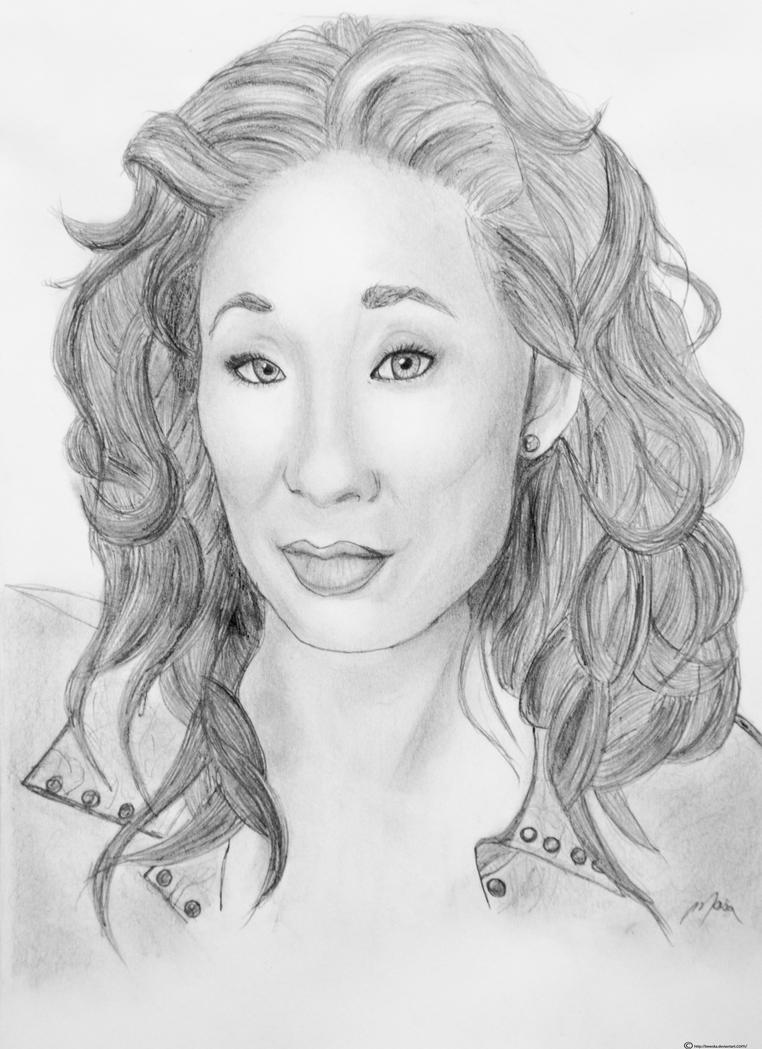 Drawing Lines Grey S Anatomy : Sandra oh by bewska on deviantart