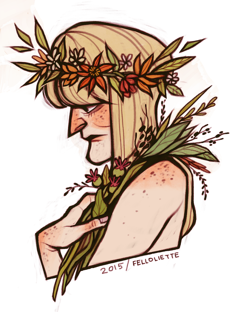 herbs and flowers by felloliette