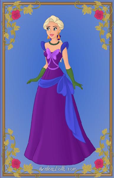 Elsa's Engagement Dress (Elsa-Aladdin Parody) by seanchow806