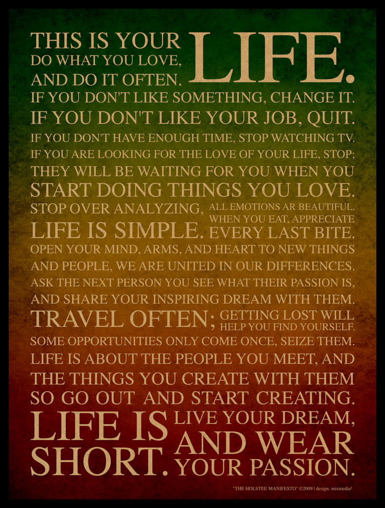 Just Live Life Quotes 27  Just Live Your Lifemixmedia On Deviantart