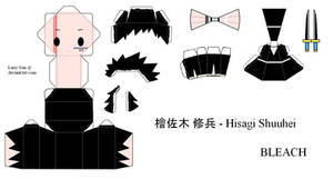 BLEACH PaperCraft - Hisagi by Larry-San