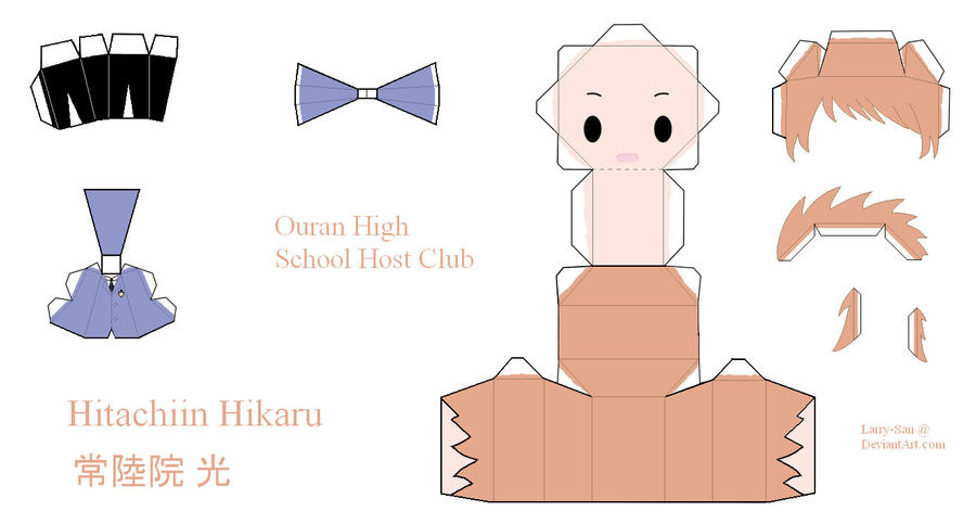 Ouran High School Host Club Papercraft - Hikaru by Larry-San