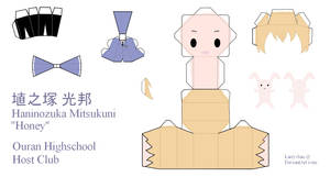 Ouran High School Host Club Papercraft - Honey by Larry-San