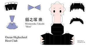 Ouran High School Host Club Papercraft - Mori by Larry-San