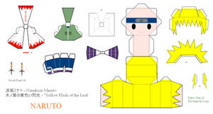 NARUTO Papercraft - Namikaze Minato, Fourth Hokage