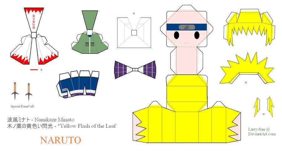 naruto papercraft namikaze minato fourth hokage by larry san on
