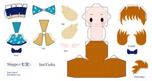 InuYasha Papercraft - Shippo by Larry-San