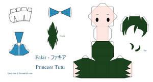 Princess Tutu Papercraft - Fakir by Larry-San