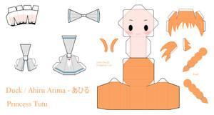 Princess Tutu Papercraft - Ahiru / Duck by Larry-San