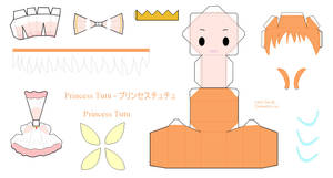 Princess Tutu Papercraft - Princess Tutu by Larry-San