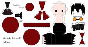 Hellsing Papercraft - Alucard by Larry-San