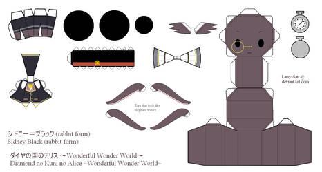 HnKnA Papercraft - Sidney Black (rabbit form) by Larry-San
