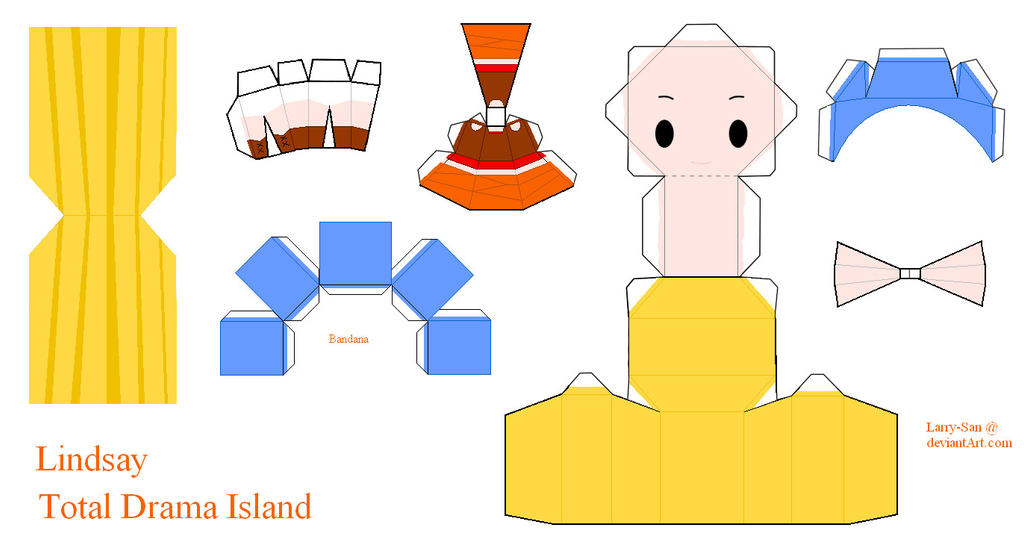 Total Drama Island Papercraft - Lindsay by Larry-San