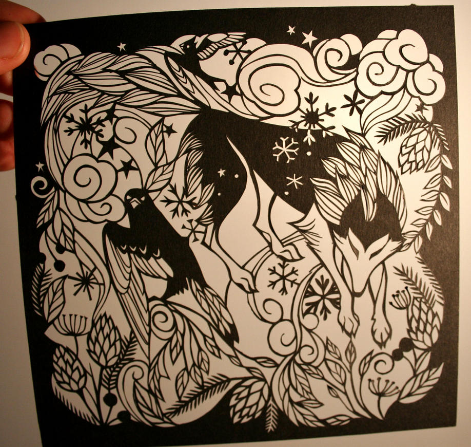 Wolf paper cutting by Snowboardleopard on DeviantArt