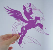 PAPER CUTTING My Little Pony by Snowboardleopard