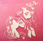 Fluttershy PAPER CUTTING by Snowboardleopard