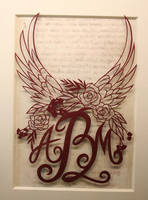 Custom Monogrammed PAPER CUTTING by Snowboardleopard