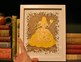 PAPER CUTTING Tale as Old as Time by Snowboardleopard