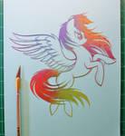 Rainbow Dash PAPER CUTTING