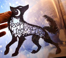 Keep Looking Up PAPER CUTTING by Snowboardleopard