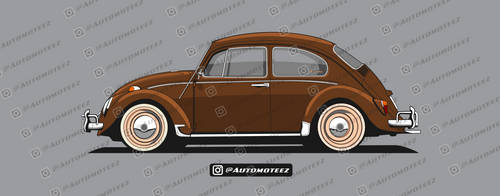 Classic Brown VW Beetle by automoteez