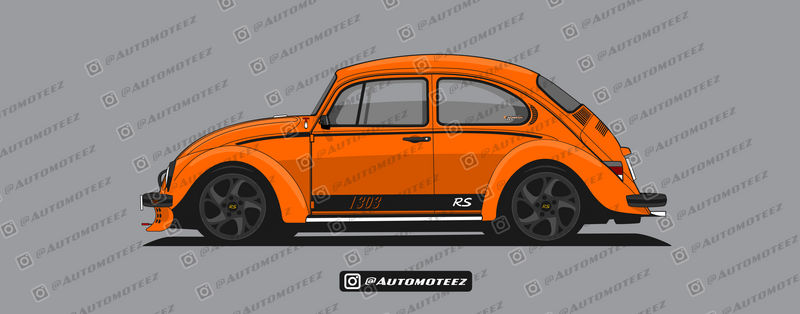 Classic Orange Custom VW Beetle - 1303 RS by automoteez