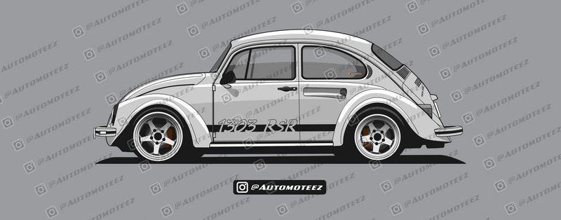 Classic Silver Custom VW Beetle - 1303 RSR by automoteez