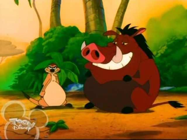 Fat Timon and Pumbaa by brown2002