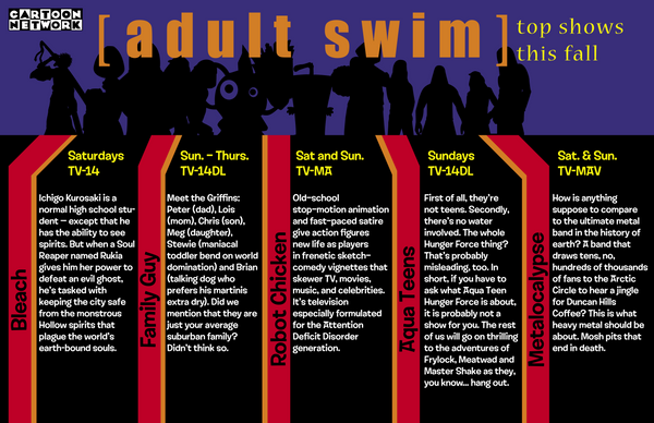 Adult swim line up