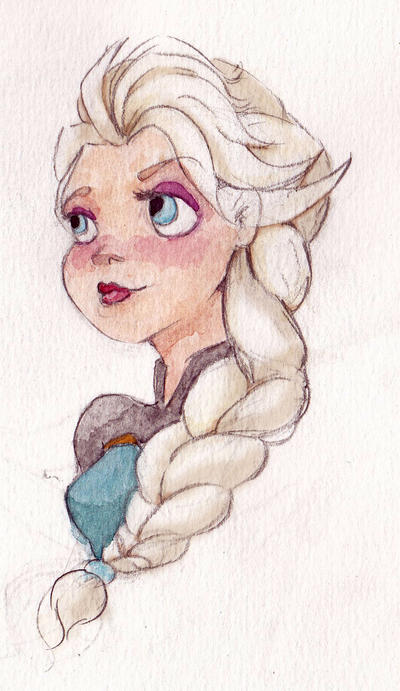 Elsa doodle by Araly