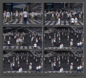 Crowd Walk Animation Experiment 2