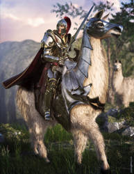 Sir Llamalot by JoePingleton
