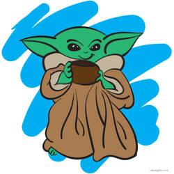 Baby Yoda Vector Sketch