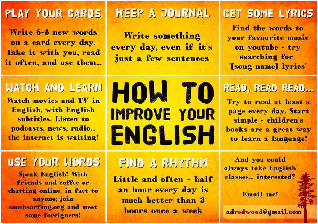 How to improve English - Credit: deviantart.net