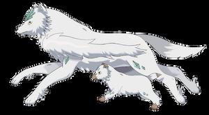 Custom (Fake) Pokemon - Opulwolf and Lucowolf by Corinthiansrose77
