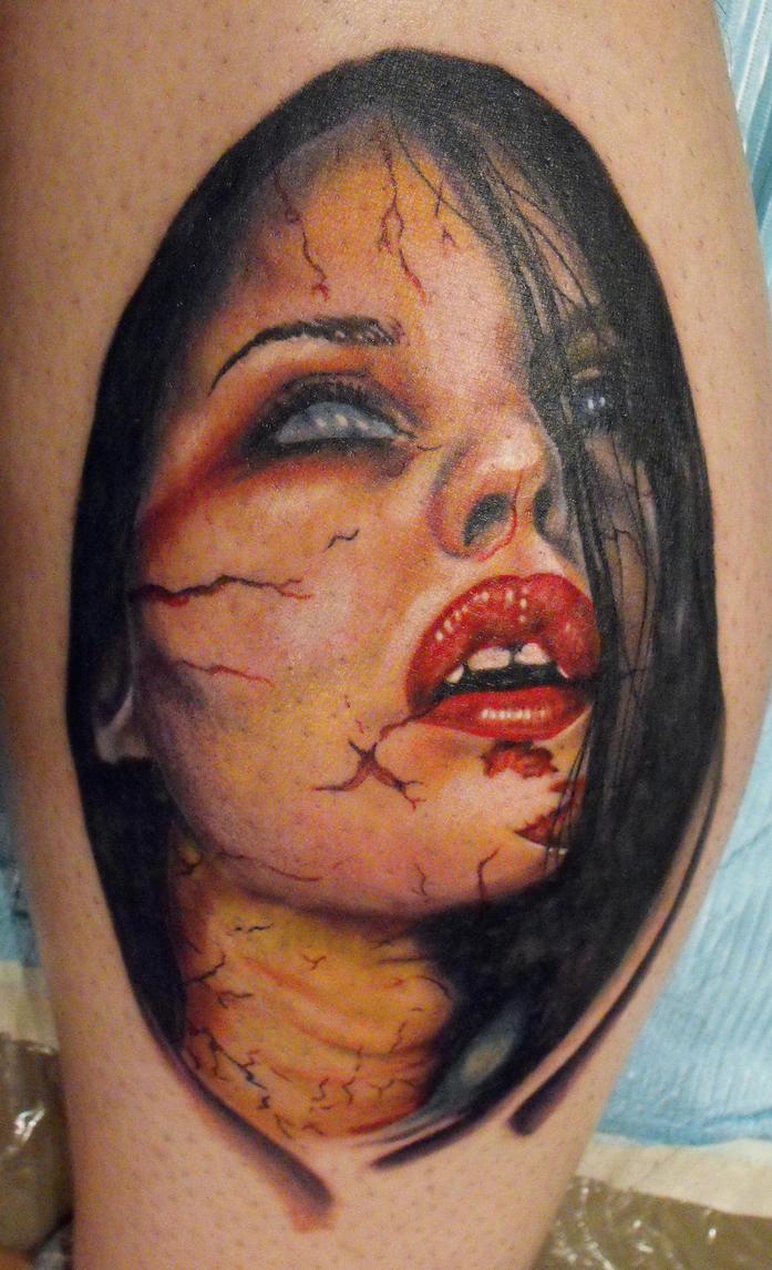 vampire girl tattoos the image kid has it. Black Bedroom Furniture Sets. Home Design Ideas