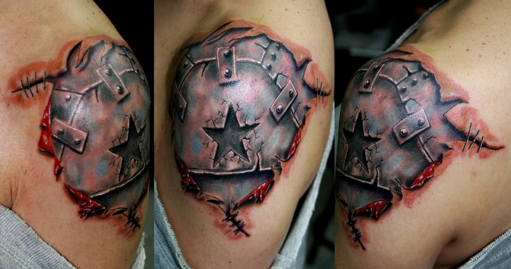 Armor   free hand  tattoo by ODIETATTOO