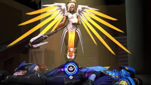 Mercy saving the team