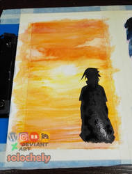 Sasuke in the colors of the rainbow - ORANGE by solochely