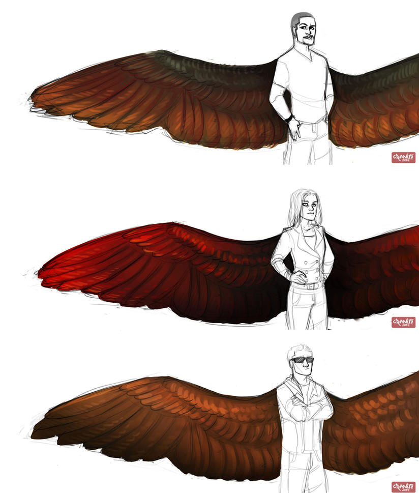 Avengers Wing AU-Designs Part 2 by Cranity