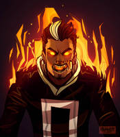 All New ghost Rider- Robbie Reyes by Cranity