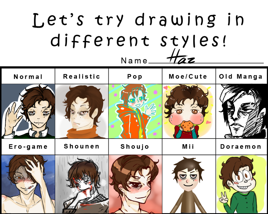 Drawing Style Meme MaleMe By MonkeyHazard On DeviantArt - Hairstyle drawing meme