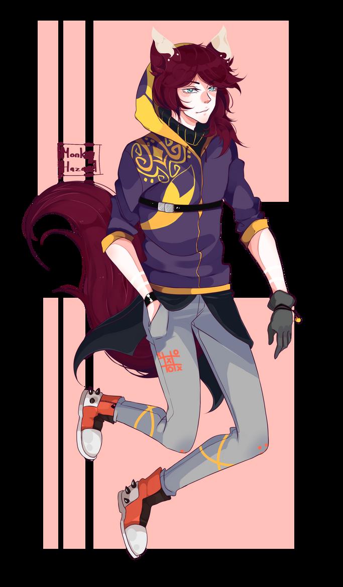Comm: Purple Fox by MonkeyHazard