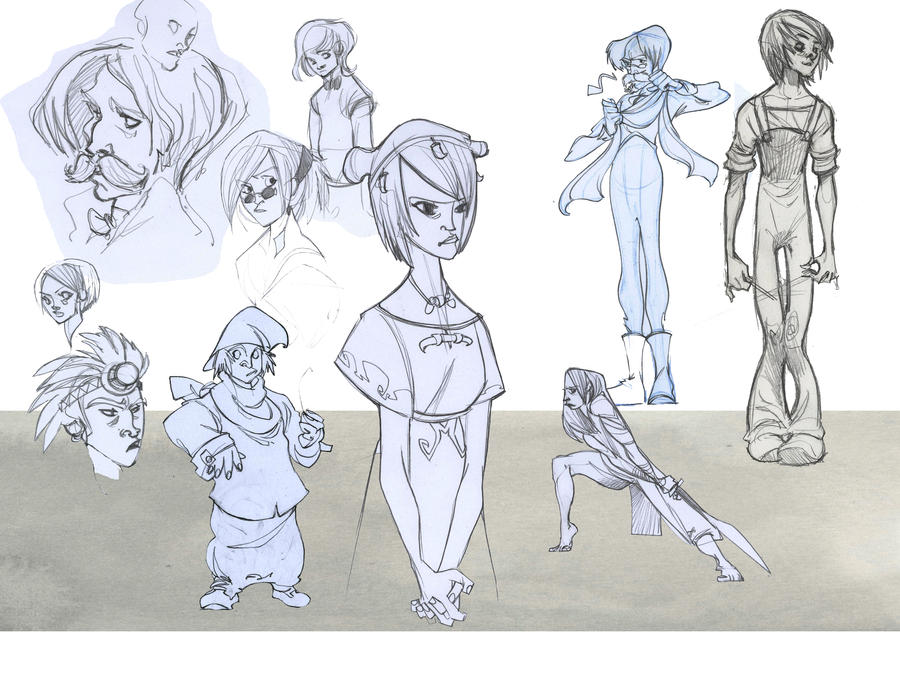 some sketches by Sally-Avernier