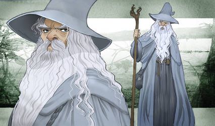 Gandalf --LOTR by Sally-Avernier