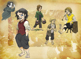 Hobbit's brotherhood by Sally-Avernier